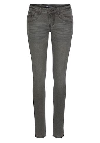 Arizona Skinny-fit-Jeans »mit Keileinsätzen«, Low Waist kaufen