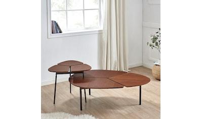 andas Couchtisch »Lyra«, 2er Set, Tischplatte aus schönem Furnierholz, Gestell aus... kaufen