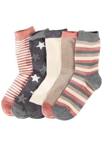 Socken, (5 Paar), in 5 verschiedenen Designs kaufen