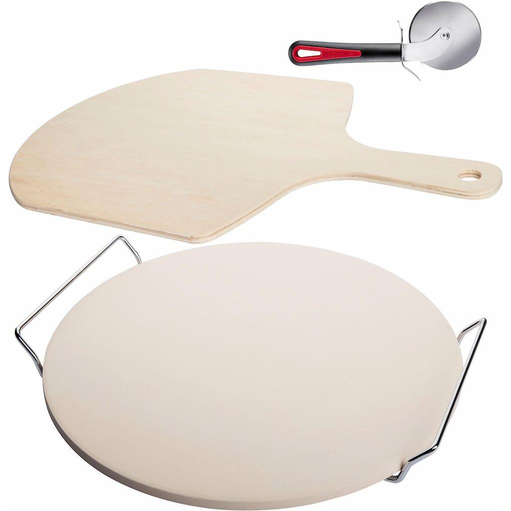 WESTMARK Pizzastein, Keramik, (Set, 3 St.)