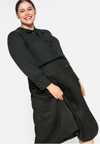 Sheego Schluppenbluse, mit V-Ausschnitt kaufen