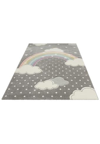 Lüttenhütt Kinderteppich »Regenbogen«, rechteckig, 13 mm Höhe, Hoch-Tief-Struktur kaufen