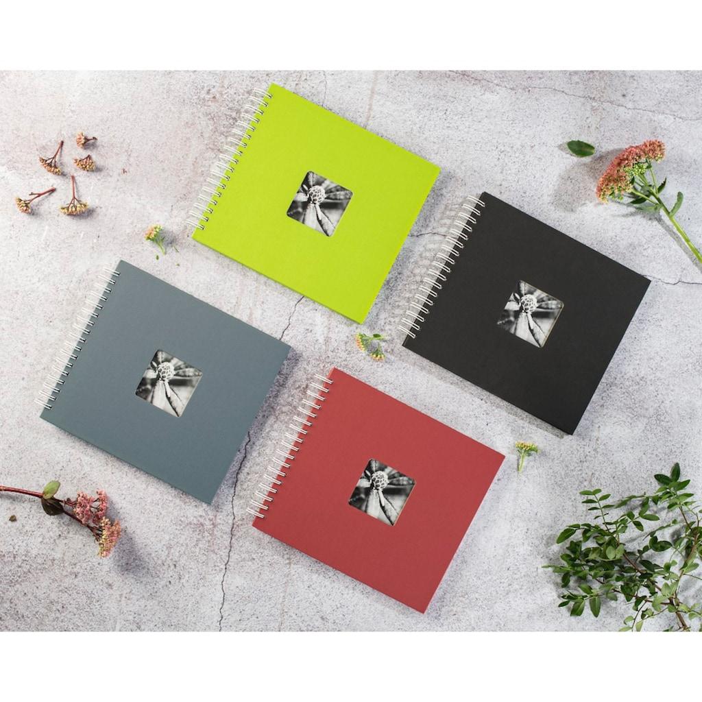 Hama Spiralalbum 28 x 24 cm, 50 weiße Seiten, Fotoalbum, kiwi