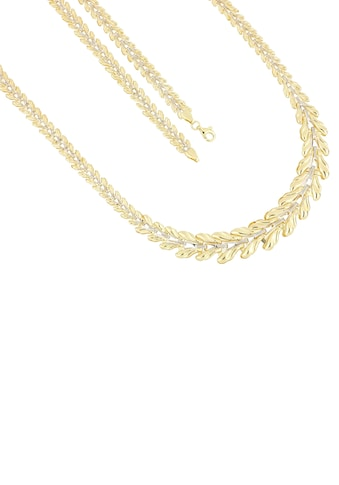 Firetti Goldkette »Stampatokettengliederung, 4,5 mm - 12,1 mm breit im Verlauf, glänzend, teilw. rhodiniert, bicolor« kaufen