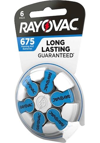 RAYOVAC Batterie »Rayovac Acoustic Zink Luft Hörgerätebatterie in der Größe 675 Pack mit 60 Batterien geeignet für Hörgeräte Hörhilfen Hörverstärker blau« kaufen