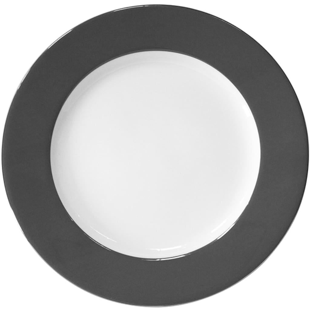 Fink Platzteller »Moments«, (Set, 4 tlg.), Ø 30 cm, Porzellan mit Platinumrand