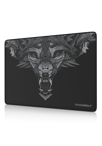 Titanwolf Speed Gaming Mauspad mit 250 x 350mm »Mousepad mit gummierter Rückseite« kaufen