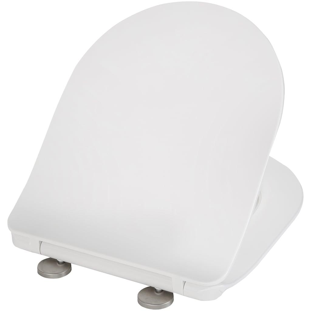 welltime Tiefspül-WC »Trento«, Toilette spülrandlos, inkl. WC-Sitz mit Softclose
