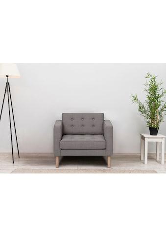 GEPADE Loungesessel, mit buchefarbenen Holzfüße kaufen