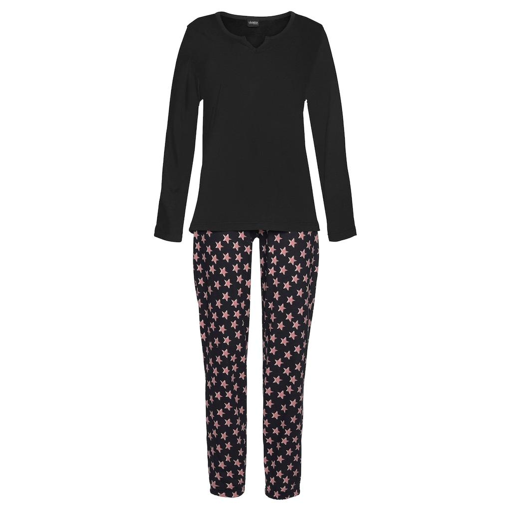 Vivance Dreams Pyjama, (2 Stück), mit Sternenmuster