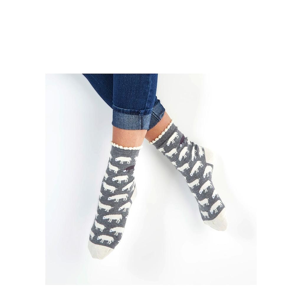 Sympatico Socken, (3 Paar), mit feinem Muschelabschluss