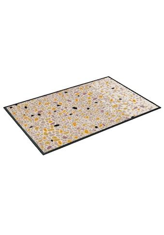 wash+dry by Kleen-Tex Fußmatte »Sasso«, rechteckig, 7 mm Höhe, Schmutzfangmatte, In-... kaufen