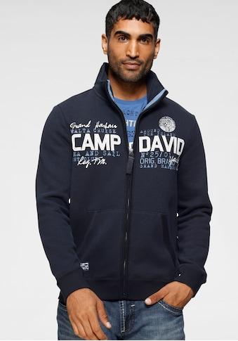 CAMP DAVID Sweatjacke, mit markanter Logo-Applikation kaufen