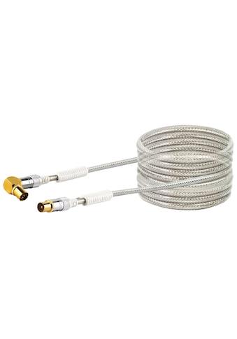 SCHWAIGER HDTV Antennenkabel TV, 4 - fach geschirmt, 110 dB »IEC Stecker zu 90° IEC Buchse« kaufen