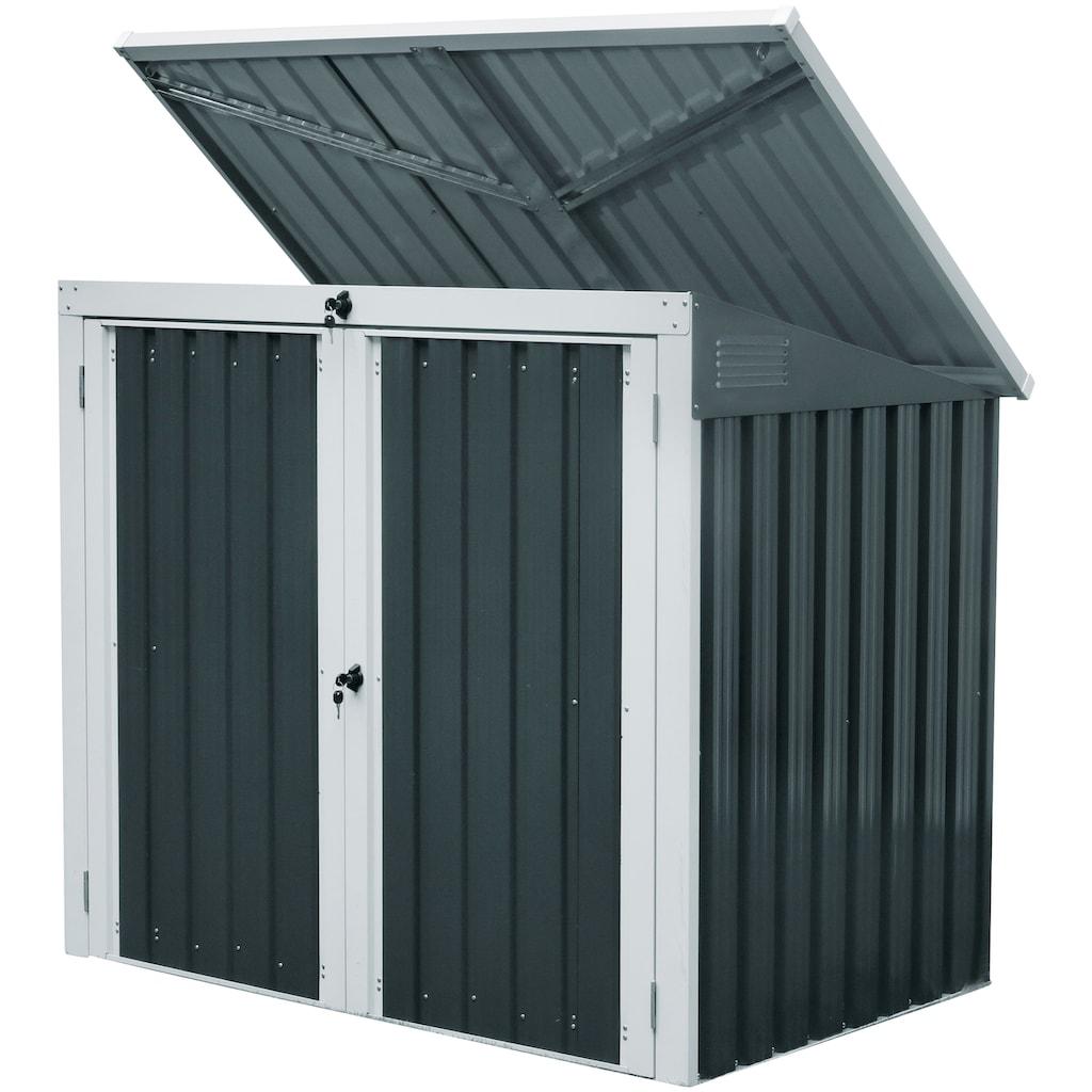 KONIFERA Mülltonnenbox »Tobi 2«, für 2x240 l, BxTxH: 158x134x101 cm