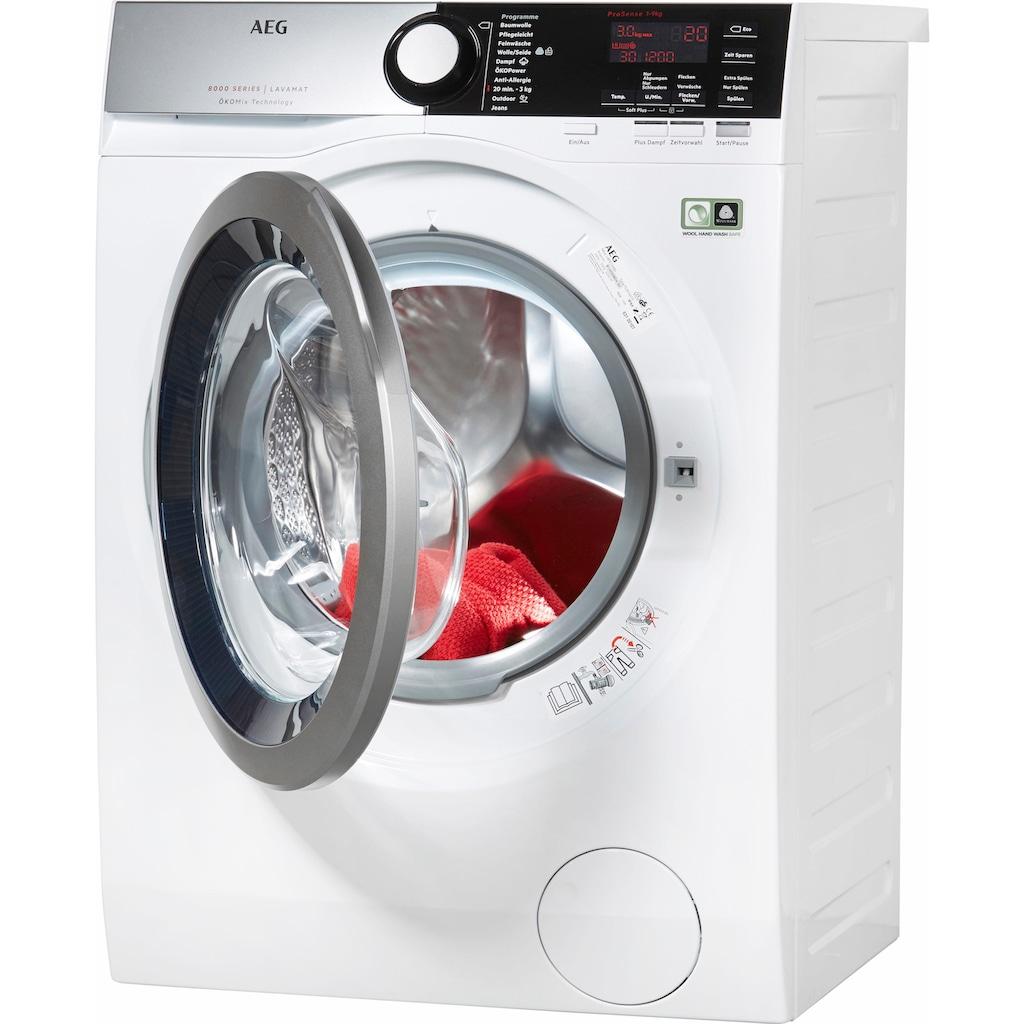 AEG Waschmaschine »LAVAMAT L8FE76695«, LAVAMAT, L8FE76695, ÖKOMix - Faserschutz