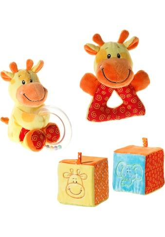 Heunec® Greifspielzeug »Mes Amis - Greifling, Plüschtier mit Rasselring + Spielball - Giraffe« kaufen