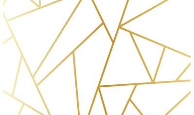 CONSALNET Papiertapete »Geom. Figuren/Gold«, in verschiedenen Größen kaufen