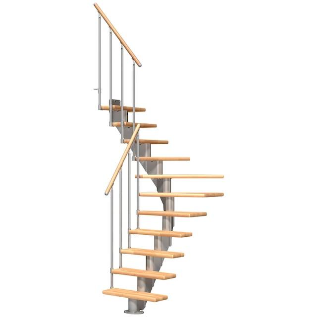 DOLLE Mittelholmtreppe »Frankfurt Buche 75«, bis 279 cm, Metallgeländer, versch. Ausführungen