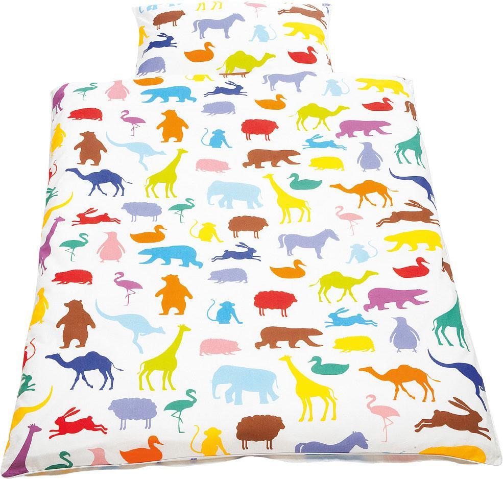 Babybettwäsche »Happy Zoo«, Pinolino® | Kinderzimmer > Textilien für Kinder > Kinderbettwäsche | Bunt | Baumwolle - Ab | PINOLINO