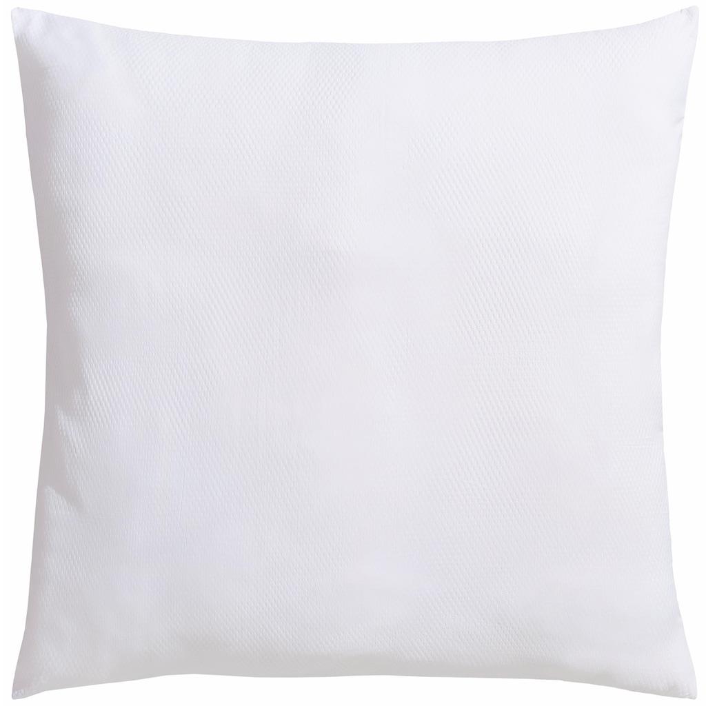 RIBECO Microfaserkissen »Seersucker Jana«, Füllung: Polyester, Bezug: Polyester, (1 St.), besonders weicher Bezug