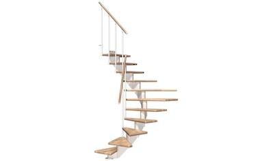 DOLLE Mittelholmtreppe »Hamburg Eiche 85«, bis 301 cm, Metallgeländer, versch. Ausführungen kaufen