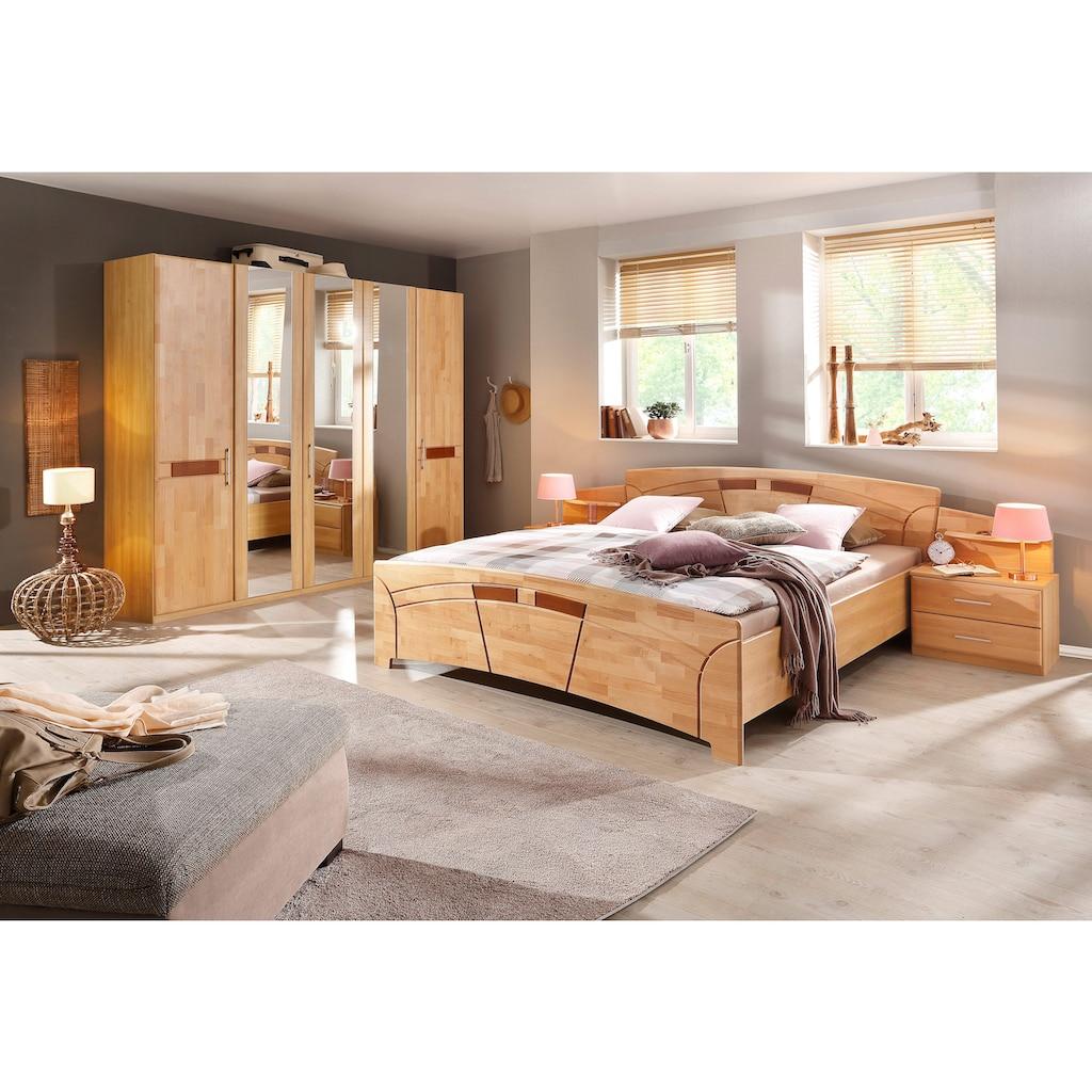 Home affaire Bettanlage »Sarah«, (Set, 3 tlg.), Set: Bett + Nachttische
