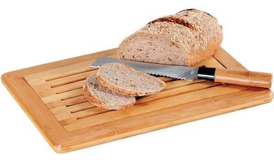 KESPER for kitchen & home Schneidebrett, für Brot, mit Krümelfach kaufen