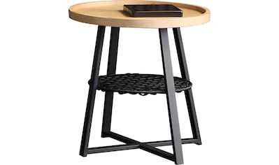SalesFever Beistelltisch, Ablagefläche unter der Tischplatte aus Metallrahmen und... kaufen