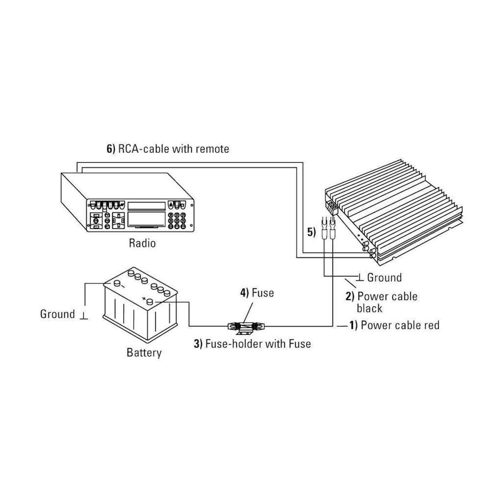 Hama Audio-Kabel, 100 cm, Power-Kit, 10 mm²