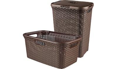 Curver Wäschekorb »Style«, (Set, 2 St.), und Wäschewanne dunkelbraun kaufen