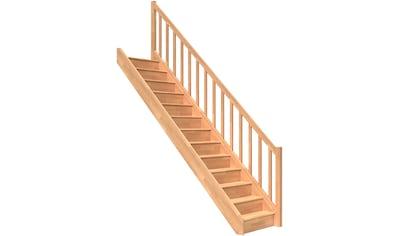 DOLLE Raumspartreppe »Paris«, geschlossene Stufen, Holzgeländer, versch. Ausführungen kaufen