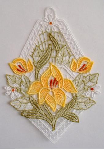 Stickereien Plauen Fensterbild »Lilienzeit« kaufen