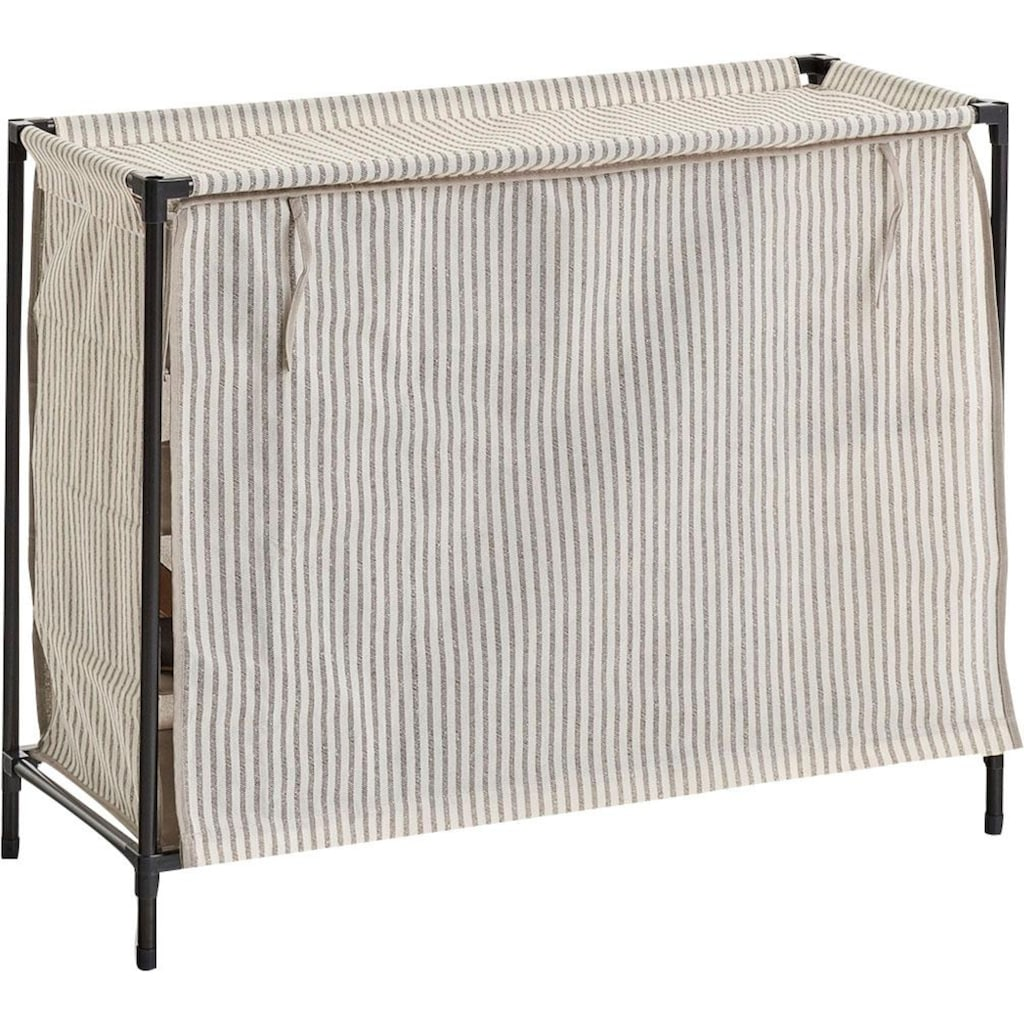 Zeller Present Schuhschrank »Stripes«, 16 Fächer, Vlies/Metall, beige