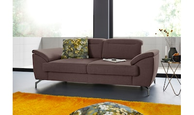 sit&more 2-Sitzer, 12 cm Fußhöhe, inklusive Sitztiefenverstellung, wahlweise Kopfteilverstellung, wahlweise in 2 unterschiedlichen Fußfarben kaufen
