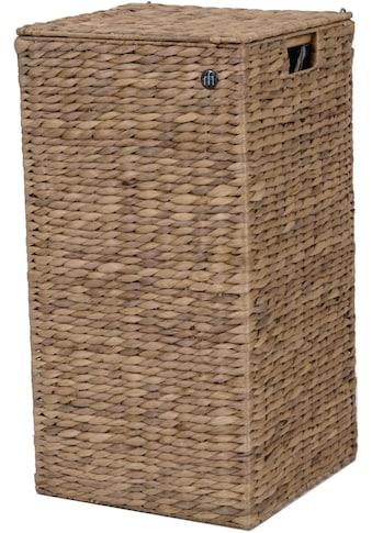 Franz Müller Flechtwaren Wäschebox »Wasserhyazinthe«, mit Deckel und Stoffeinsatz kaufen