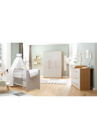 Babyzimmer - Komplettset »Tristan, grau/eiche« (Set, 3 - tlg) kaufen