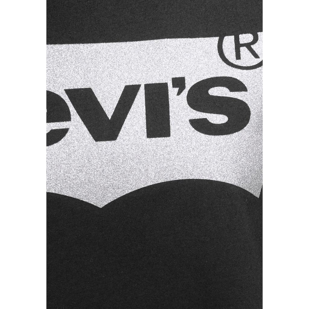 Levi's® T-Shirt »Batwing«, mit Logo - Glitzerprint
