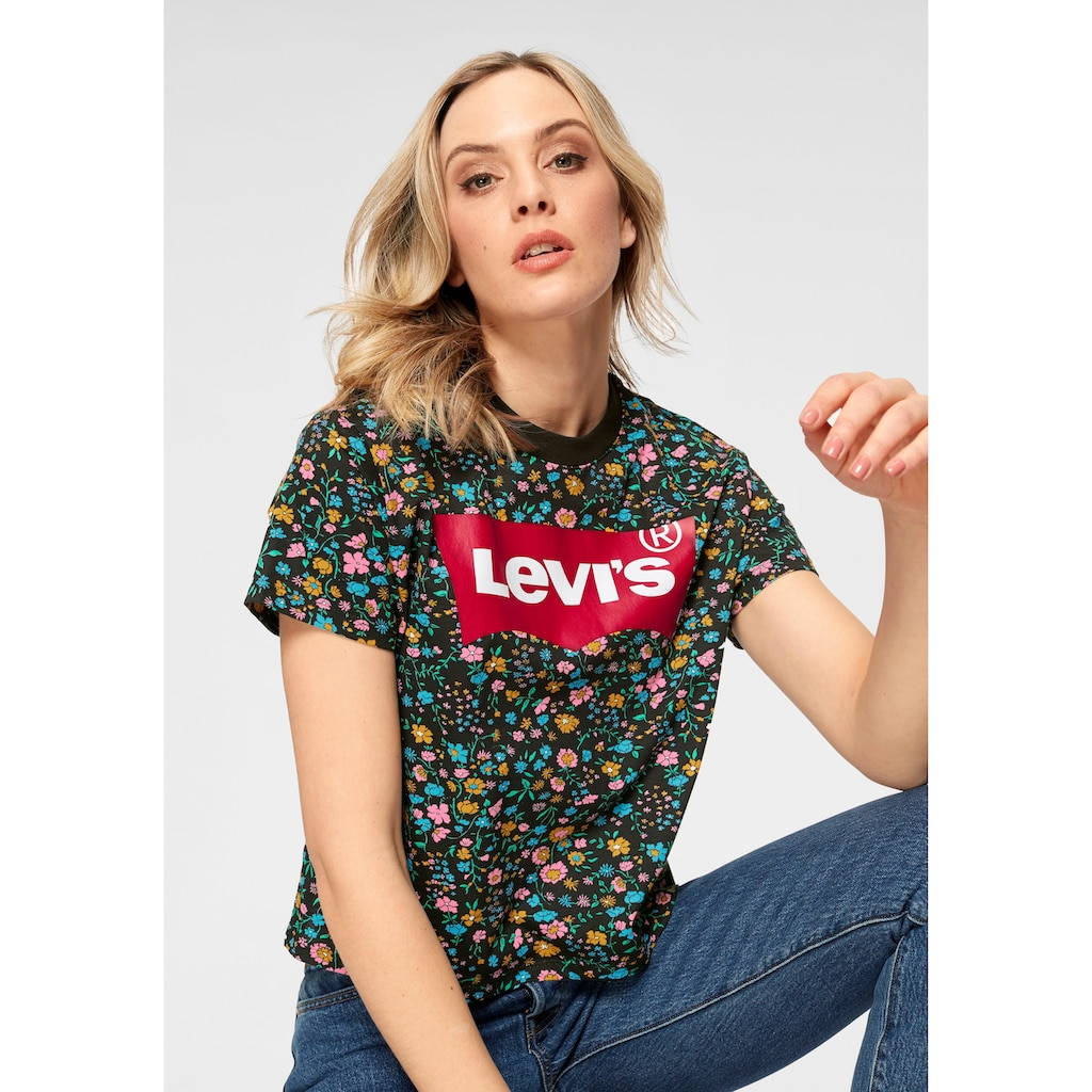 Levi's® T-Shirt »Graphic Varsity Box-Tee«, Allover Millefleure-Print