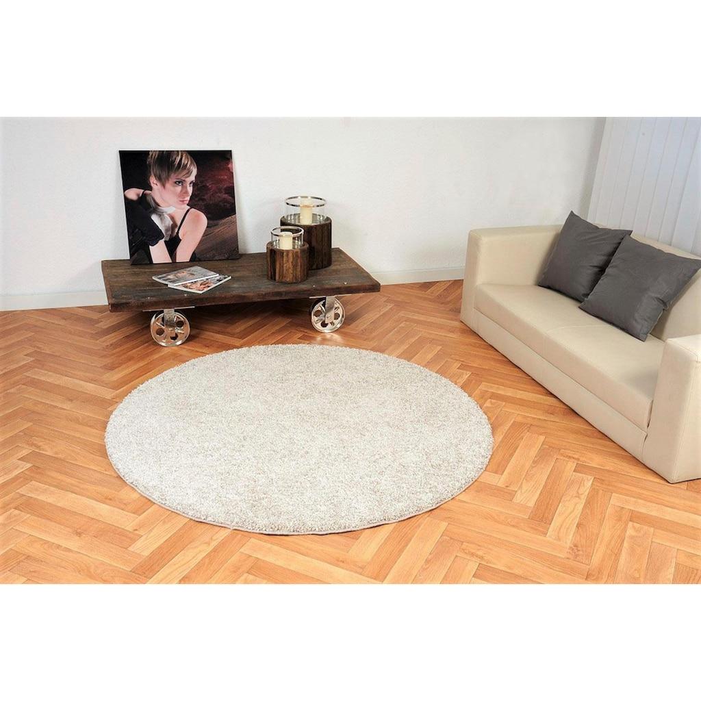 Living Line Hochflor-Teppich »Comtesse«, rund, 30 mm Höhe, besonders weich durch Microfaser
