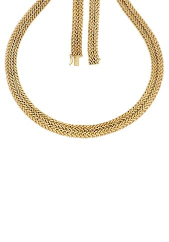 Firetti Collier »Doppelzopfkettengliederung, 11,5 mm breit, Glanzoptik, vergoldet« kaufen