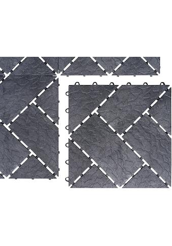 UPP Terrassenplatte 30x30 cm, Kunststoff in Schieferpoptik, 6 Platten (0,54m²) kaufen