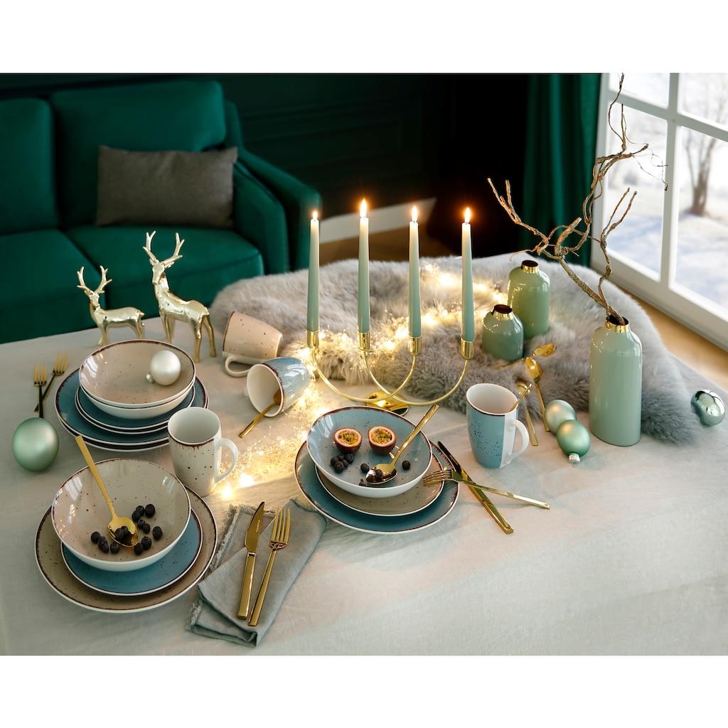 Home affaire Besteck-Set »Colmar«, (Set, 30 tlg.), Edelstahl 18/10, PVD gold glänzend, 30 Teile