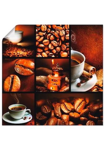 Artland Wandbild »Kaffee Collage«, Getränke, (1 St.), in vielen Größen & Produktarten... kaufen