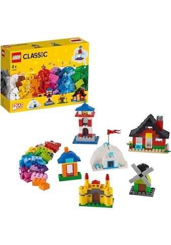 """LEGO® Konstruktionsspielsteine """"LEGO® Bausteine  -  bunte Häuser (11008), LEGO® Classic"""", Kunststoff, (270 - tlg.) kaufen"""
