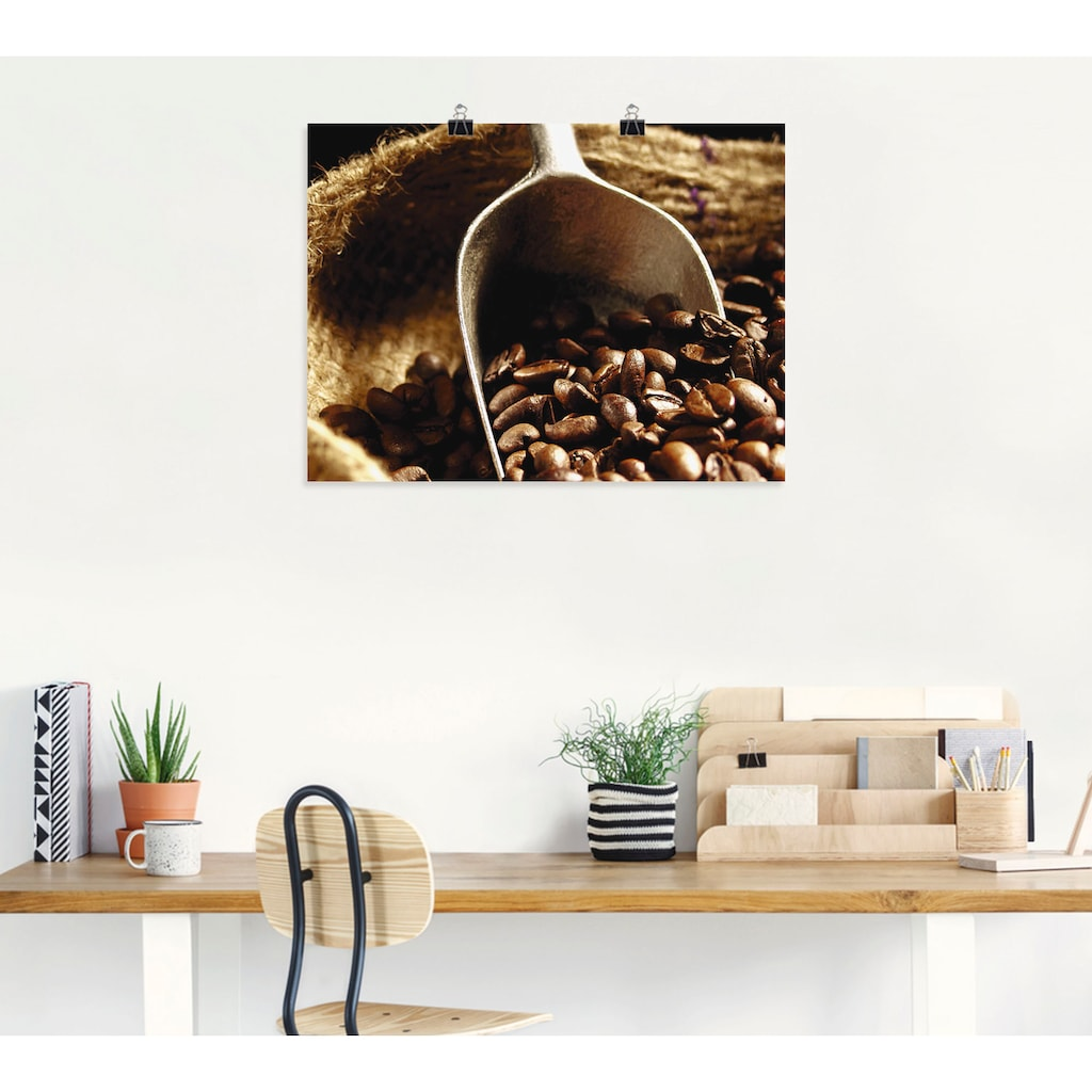 Artland Wandbild »Kaffee«, Getränke, (1 St.), in vielen Größen & Produktarten - Alubild / Outdoorbild für den Außenbereich, Leinwandbild, Poster, Wandaufkleber / Wandtattoo auch für Badezimmer geeignet