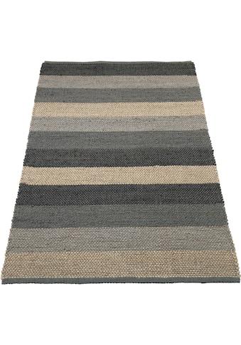 Home affaire Teppich »Hanf Stripe«, rechteckig, 5 mm Höhe, Wohnzimmer kaufen