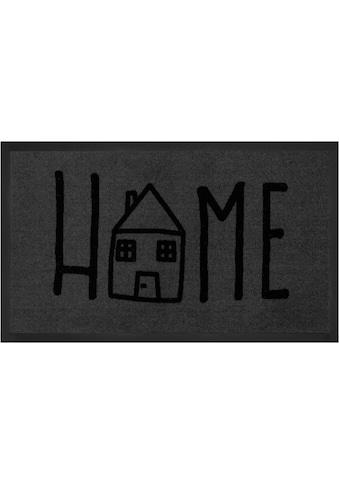 HANSE Home Fußmatte »Easy Home«, rechteckig, 5 mm Höhe, Schmutzfangmatte, mit Spruch,... kaufen