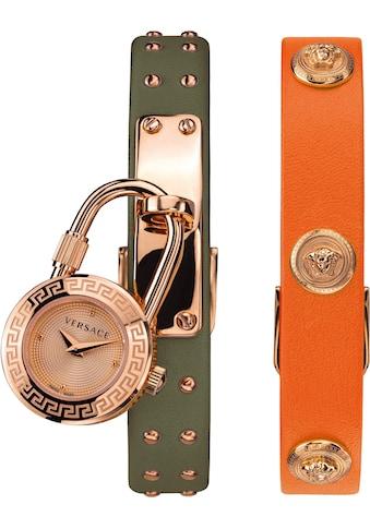 Versace Schweizer Uhr »Medusa Lock Icon, VEDW00519« (Set, 3 tlg., mit zusätzlichem Lederband) kaufen