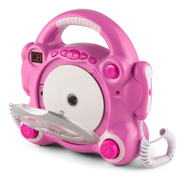 Auna Kinder Karaoke Anlage CD Player 2 x Mikrofon Batteriebetrieb »Pocket Rocker«
